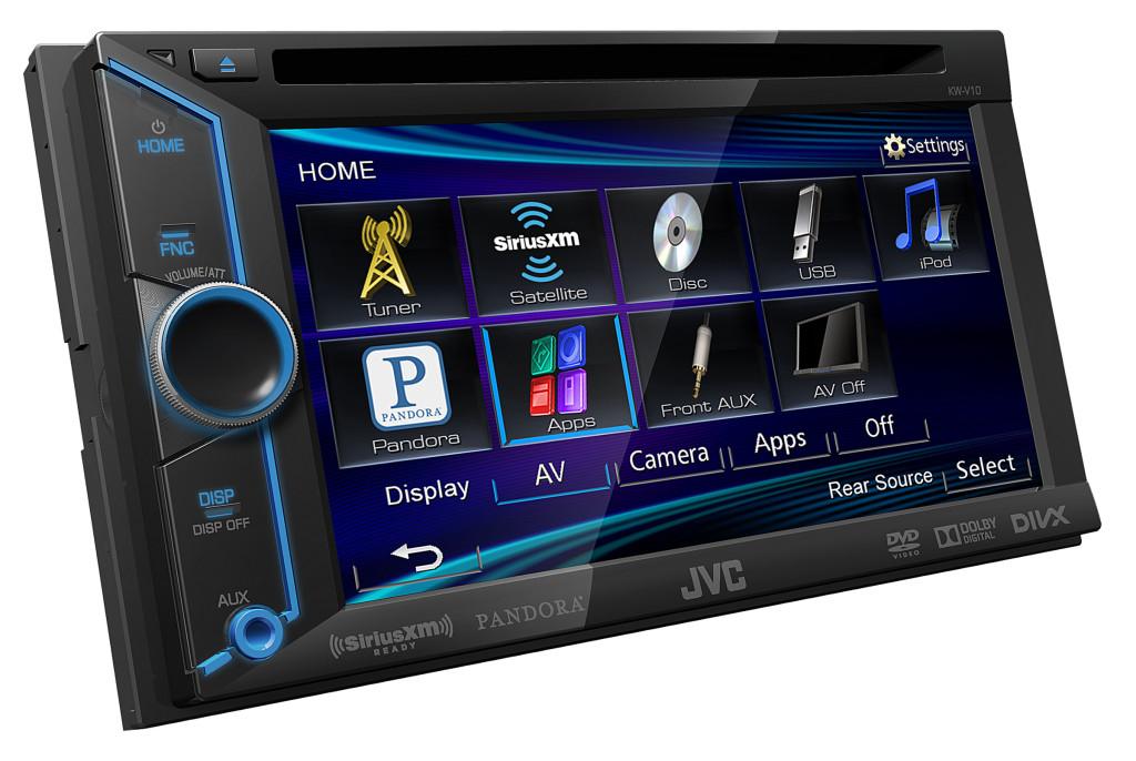 KW-V10_J_Compatible Pandora Multimedia Receiver Angle