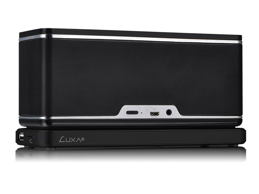 LUXA2 GroovyW Bluetooth Speaker with Wireless Charging Station-1