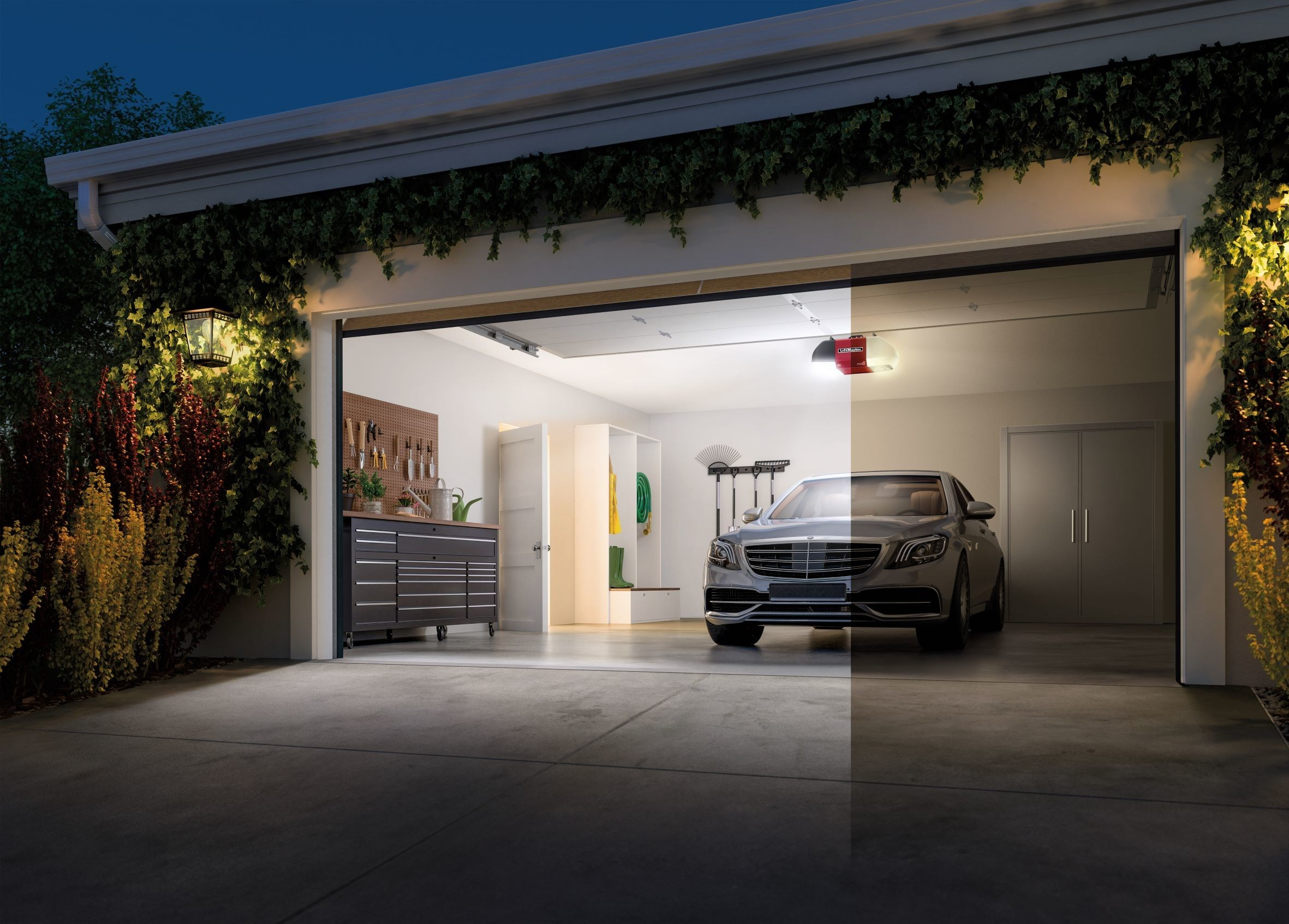 See Your Garage in An All-New Light with the LiftMaster WLED Garage Door  Opener with Corner to Corner Lighting™ - Cerebral-Overload